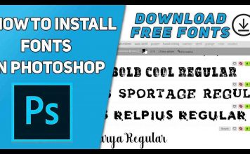How to Install Fonts in Photoshop and Download Free Fonts