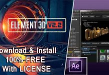 How to Install Element 3d and Free Download After Effects Plugin