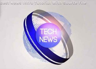 Create News Intro in After Effects Tutorial - After Effects Template Free Download