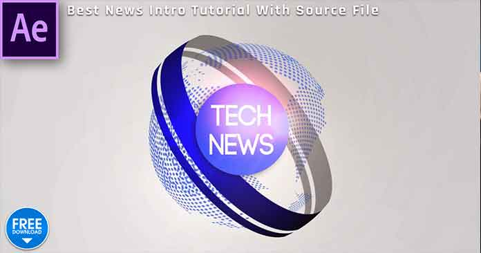 Create News Intro After Effects Tutorial Template Free Download