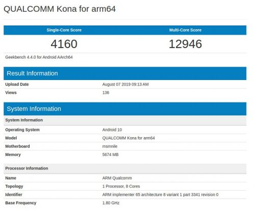 Geekbench , Qualcomm , Snapdragon 865 , benchmark , microprocessor , testing , chipset