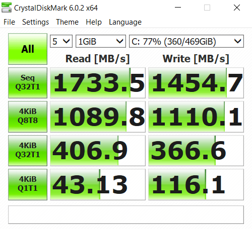 Acer-Nitro-7 drive paired with a 1 TB HDD