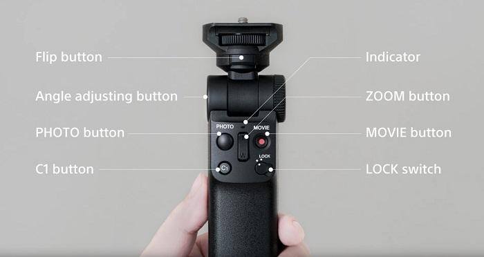 Shooting Grip With Wireless Remote Commander Sony camera monopod Camera tripod