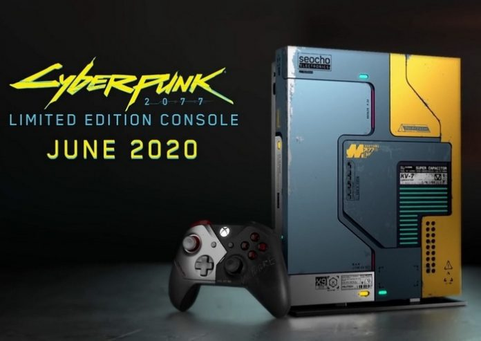 Microsoft Xbox One X will release the in the style of the game Cyberpunk 2077