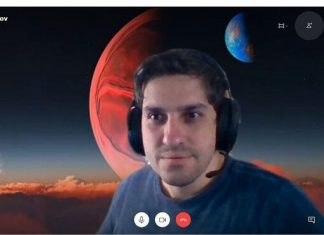 Skype has a customizable background for video calls