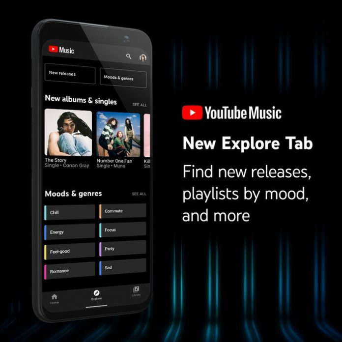 YouTube Music Received New Explore Tab