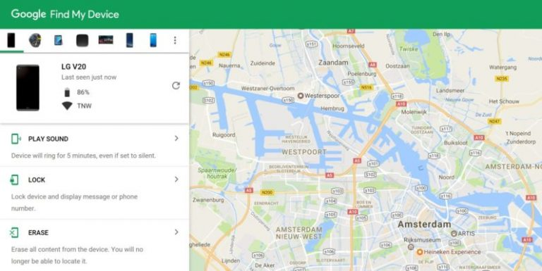 Google Find My Device Ways to remotely control