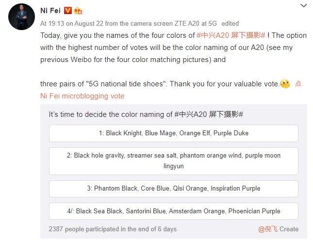 Axon 20 color poll