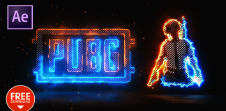 Lighting Fire Pubg Reveal Intro in After Effects Template Free Download